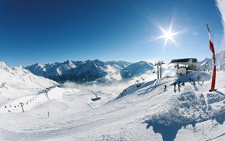 Das Skigebiet Söldenmit seinen Gletschern